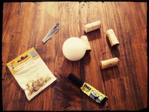 DIY boule de noel en bouchons de liege - chicon choc 2