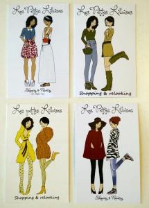 Cartes de visite Les Petites Lilloises shopping à domicile lille - chicon choc blog de bonnes adresses lilloises