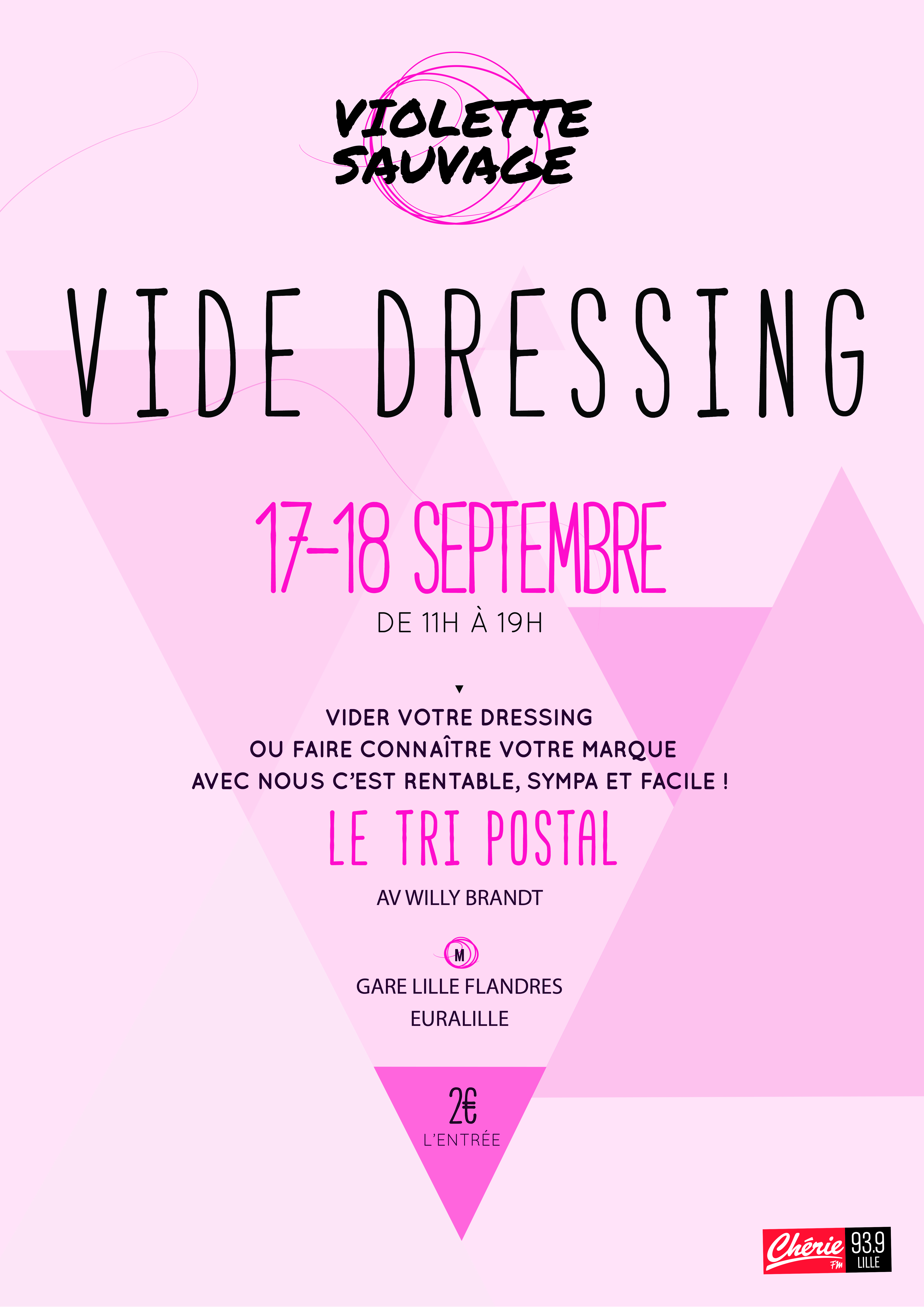 affiche vide dressing violette sauvage lille chicon choc blog de bonnes adresses lilloise. Black Bedroom Furniture Sets. Home Design Ideas