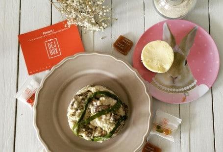 Risotto & cheesecake dejbox livraison de repas en métropole lilloise - chicon choc