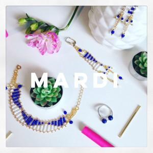 Bijoux bleus de Deer Mama Bijoux création de bijoux - chicon choc blog de bonnes adresses lilloises
