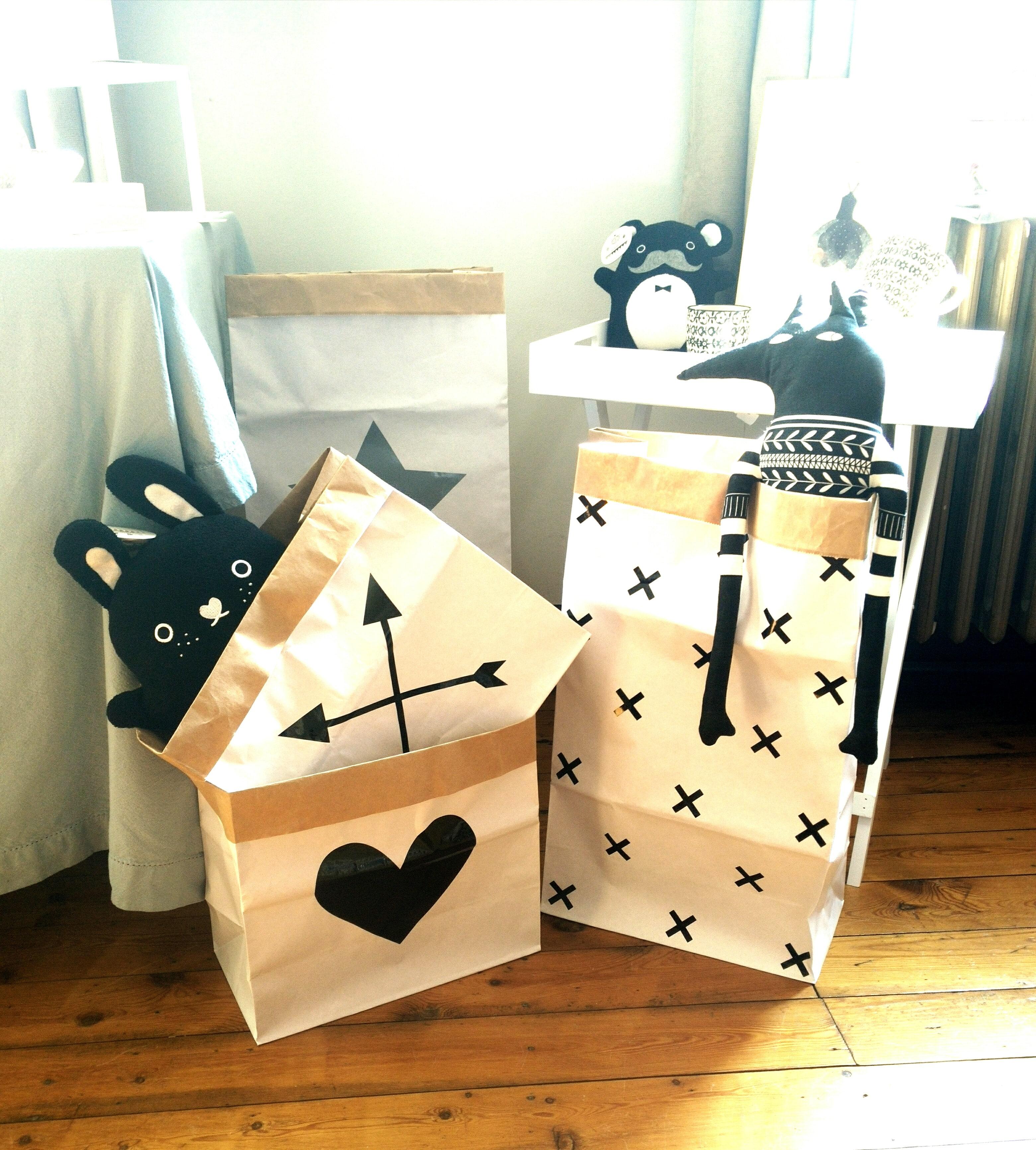 paper bag et doudous main sauvage chez lovely summer, site d'objets de décoration scandinave - chicon choc blog de bonnes adresses lilloises