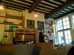 Machine barista Tamper espresso Bar coffee shop Lille - chicon choc