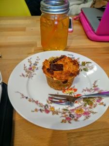 muffin vegan & jus de pommes fermiers andy & marcel salon de thé locavore lille