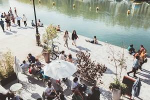 terrasse le pavillon des canaux canal de l'ourcq