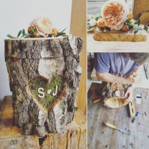 urne mariage tronc d'arbre flower by mariette lille