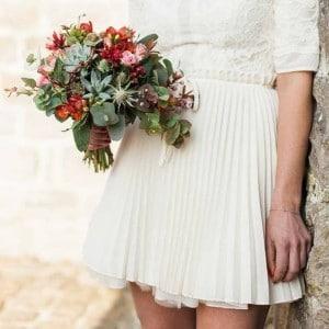 bouquet mariée rouge flower by mariette Lille