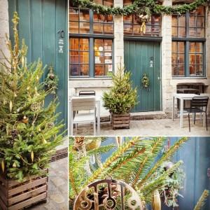 décoration vitrine tamper espresso bar par flower by mariette