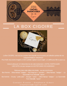 box surprise cigoire marche de createurs lille