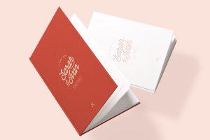 Michelle-Mauricette-couverture rouge livre d'or personnalisé mariage chicon choc blog lille
