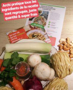recette box à cuisiner panier repas 2 personnes mealizy chicon choc blog lille