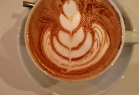 Chocolat chaud latte art Tamper espresso Bar coffee shop Lille - chicon choc
